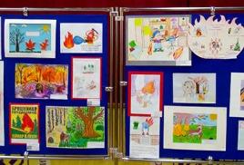 Конкурс детского рисунка посвященного пожарной охране
